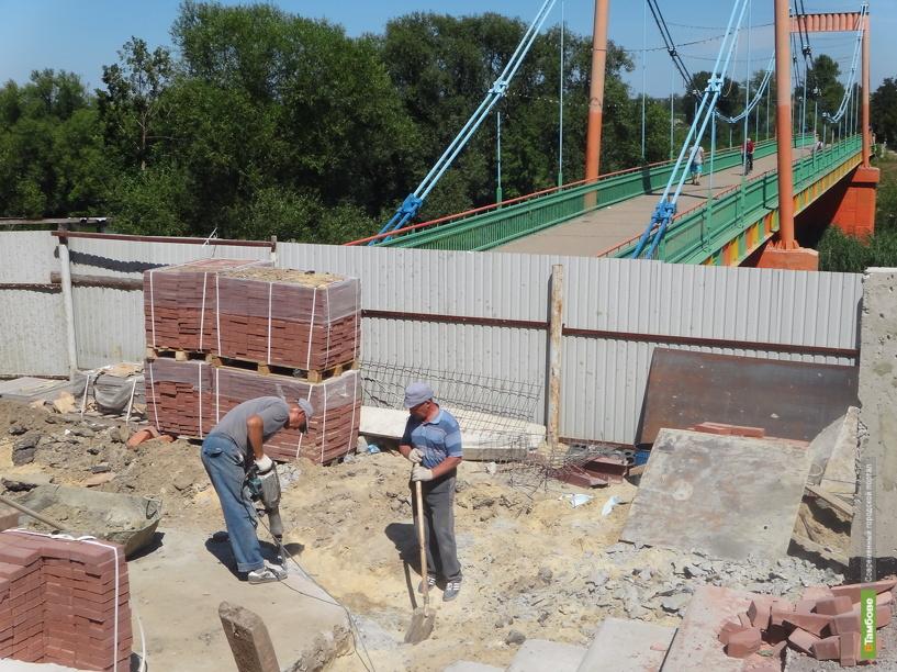 Спуск к Тезикову мосту в Тамбове оборудуют за 10 миллионов рублей