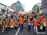 Владивосток отметил День тигра шествием и конкурсом черлидеров