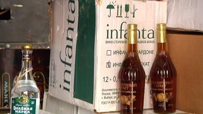На центральном рынке Тамбова изъяли полтысячи бутылок контрафактного алкоголя