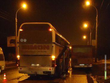 В Тамбове столкнулись два пассажирских автобуса и легковушка