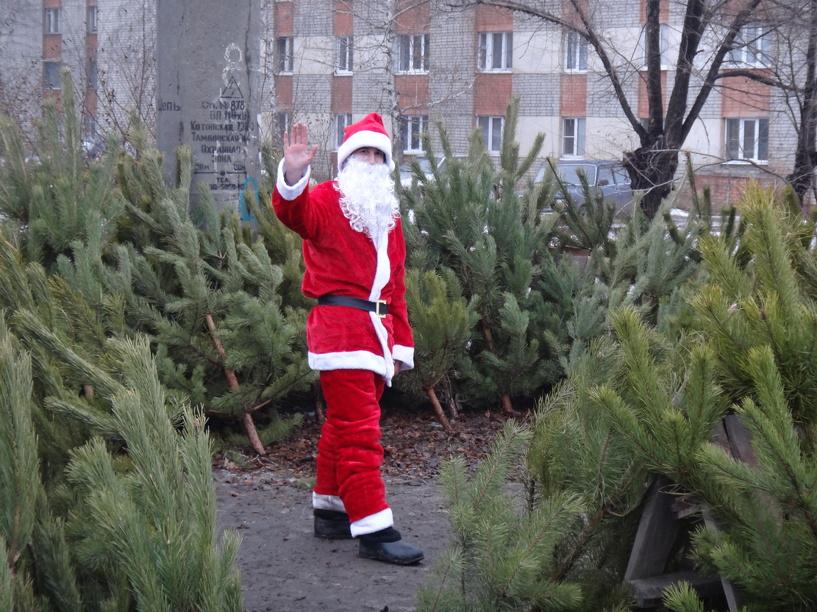На улице Тамбова замечен Санта Клаус