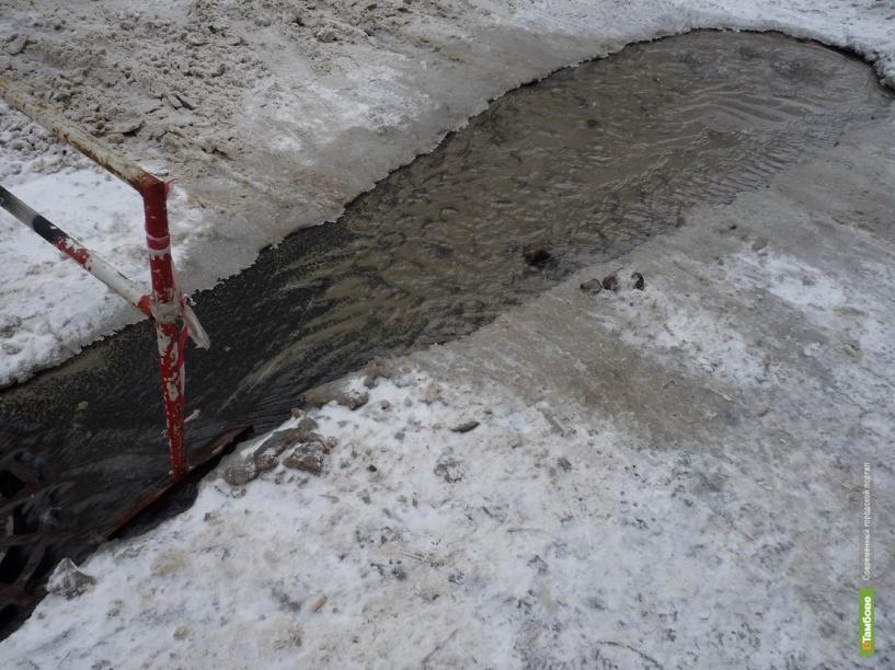 В Тамбове второй раз на этой неделе прорвало водовод