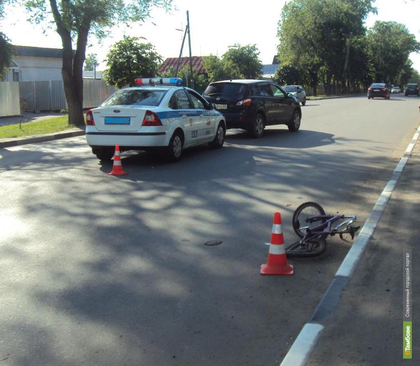 Семилетний тамбовчанин на велосипеде попал в ДТП