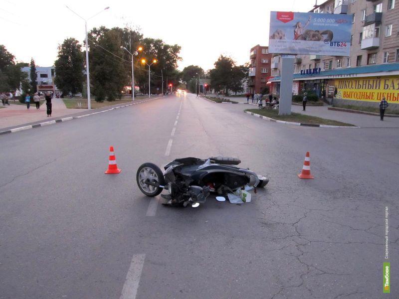 В Котовске мужчина не справился со скутером