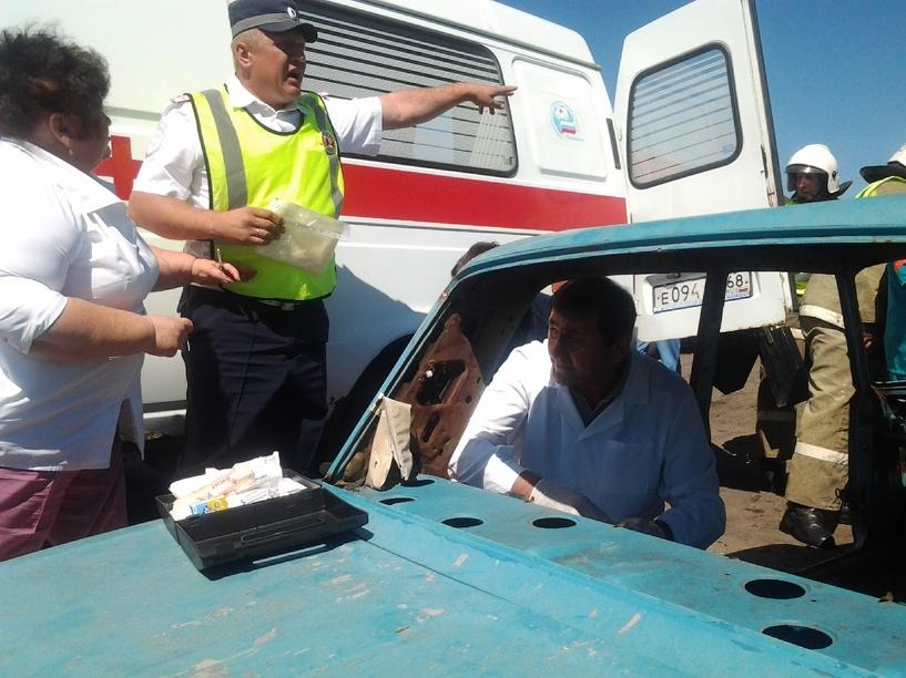 В Гавриловском районе прошли крупные учения оперативных служб