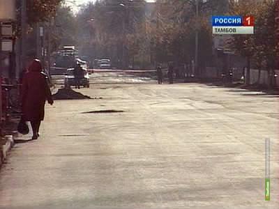 Тамбовский градональник поторопил подрядчиков со сдачей улицы Карла Маркса