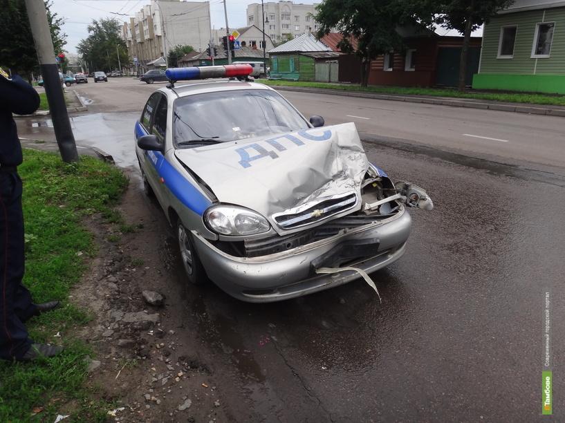 ВТамбове во время учений автоинспекторы попали в ДТП