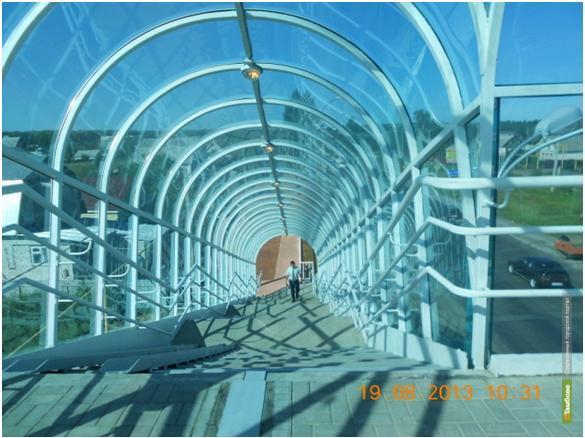 В посёлке Новая Ляда открыли надземный переход