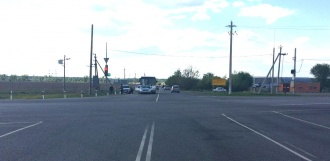 На Северном обходе автобус врезался в легковой автомобиль
