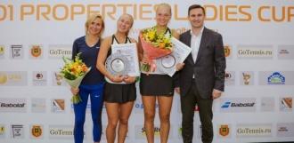 Олеся Первушина выиграла в парном разряде на турнире ITF