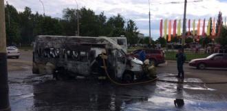 Водитель сгоревшей маршрутки на севере Тамбова успел высадить пассажиров