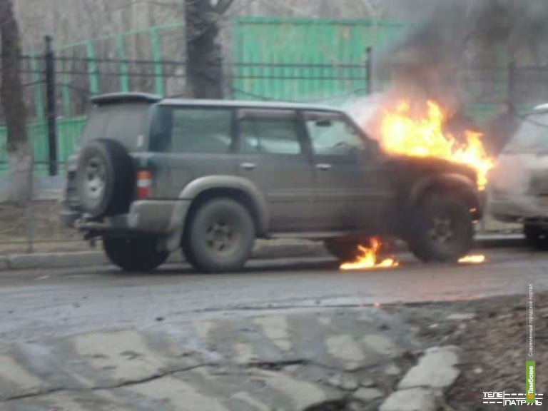 В Тамбове сгорел автомобиль