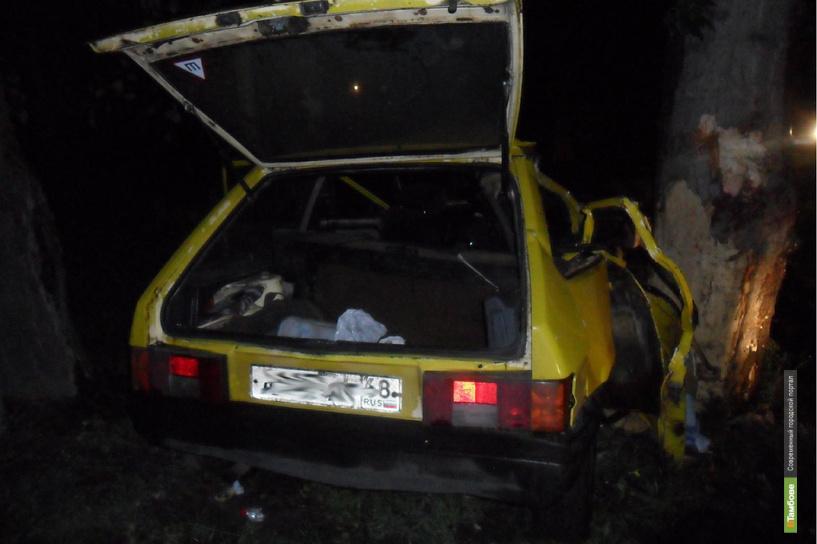 В Мичуринске «восьмерка» врезалась в дерево: пассажир погиб на месте ДТП