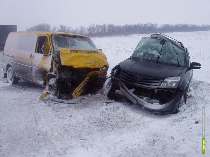 За время новогодних каникул на Тамбовщине произошло 40 серьезных ДТП