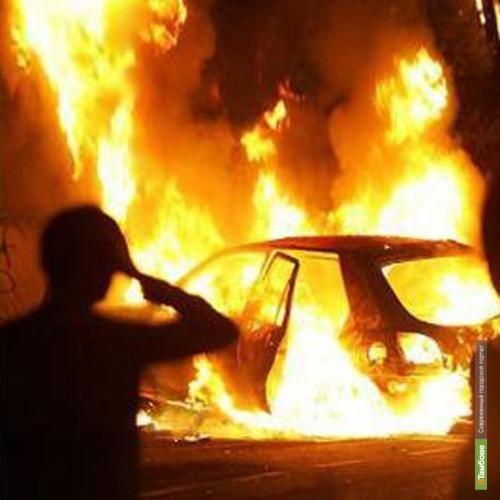 Под Тамбовом полностью сгорел автомобиль «Форд-Мондео»