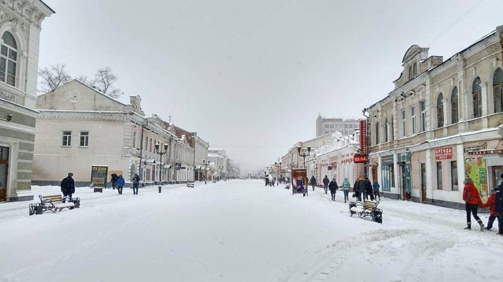«Зима психанула»: День снега в Тамбове. Подборка из соцсетей