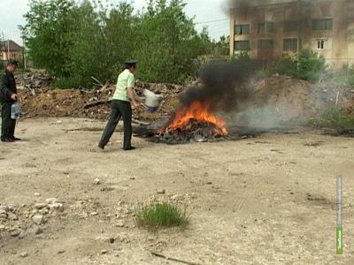 Под Тамбовом сгорели 30 килограммов марихуаны и героина