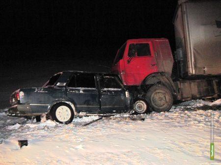 Автомобилист погиб в ДТП под Тамбовом