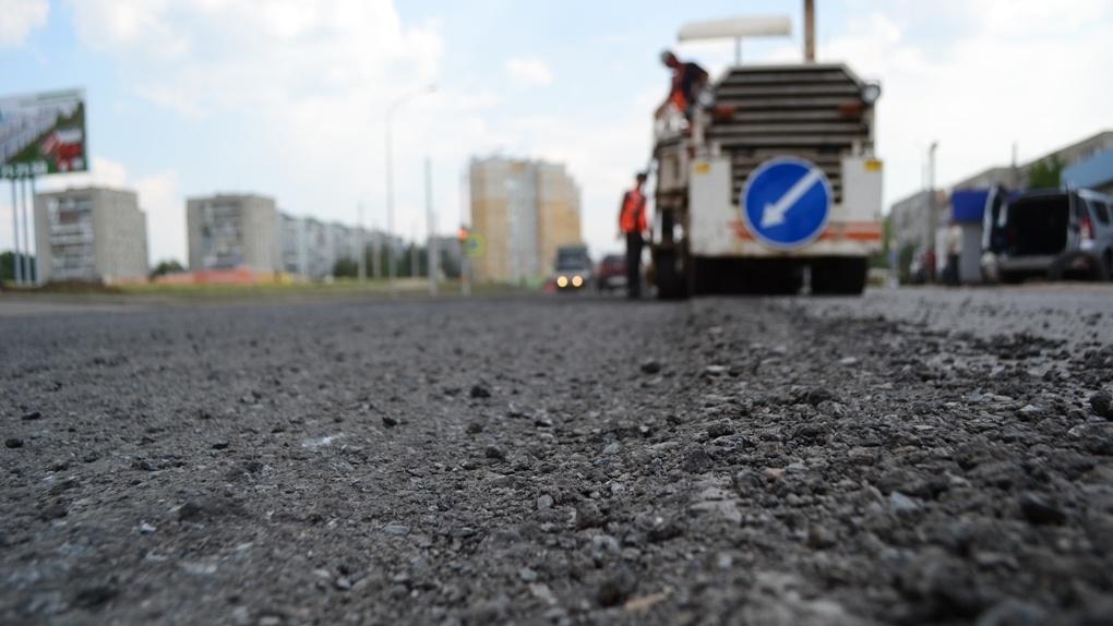 ВТамбове ночью ремонтируют улицу Рылеева