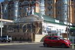 Рабочие приступили к отделке фасада «Модерна»
