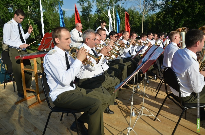 В посёлке Зелёный выступил Центральный военный оркестр Минобороны