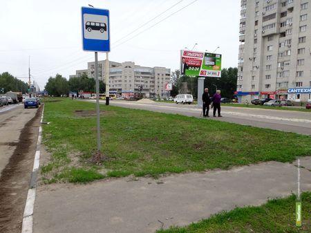 """ВТамбове """"раздвоилась"""" автобусная остановка"""