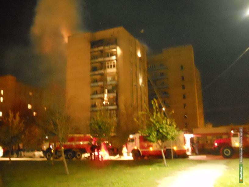 На Моршанском шоссе загорелась многоэтажка
