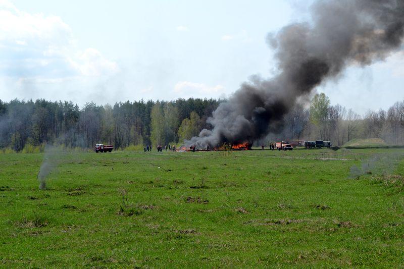 В Тамбовском районе горела тысяча квадратных метров леса