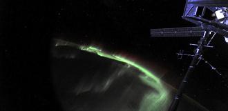 Космонавт снял северное сияние с орбиты Земли