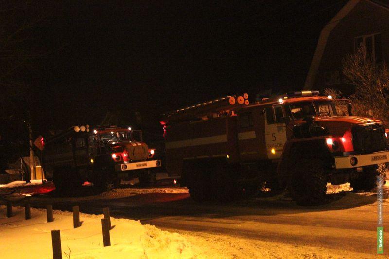 В Тамбове от огня пострадал трехэтажный особняк