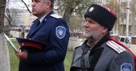 По Моршанску торжественным маршем прошли казаки