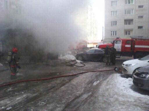 В Тамбове горела баня на Чичканова
