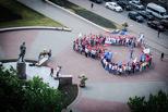 Тамбовские студенты выстроились в огромное сердце