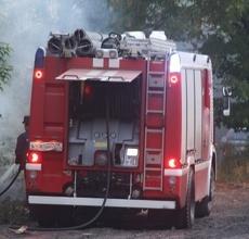 Накануне вечером в центре Тамбова загорелся дом