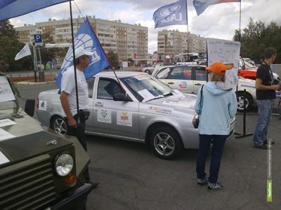 Отечественные машины во время автопробега заедут в Тамбов