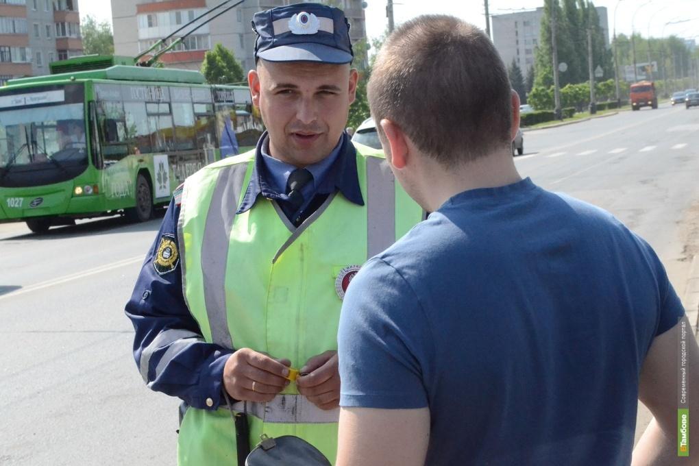 В Тамбове разыскивают водителя, скрывшегося с места ДТП
