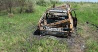 В Рассказово огонь уничтожил автомобиль