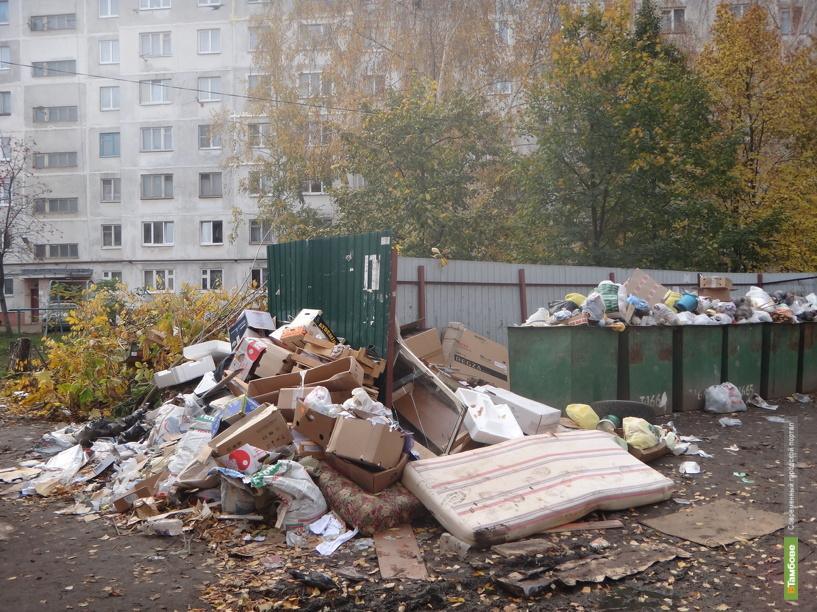Тамбов снова погряз в мусоре