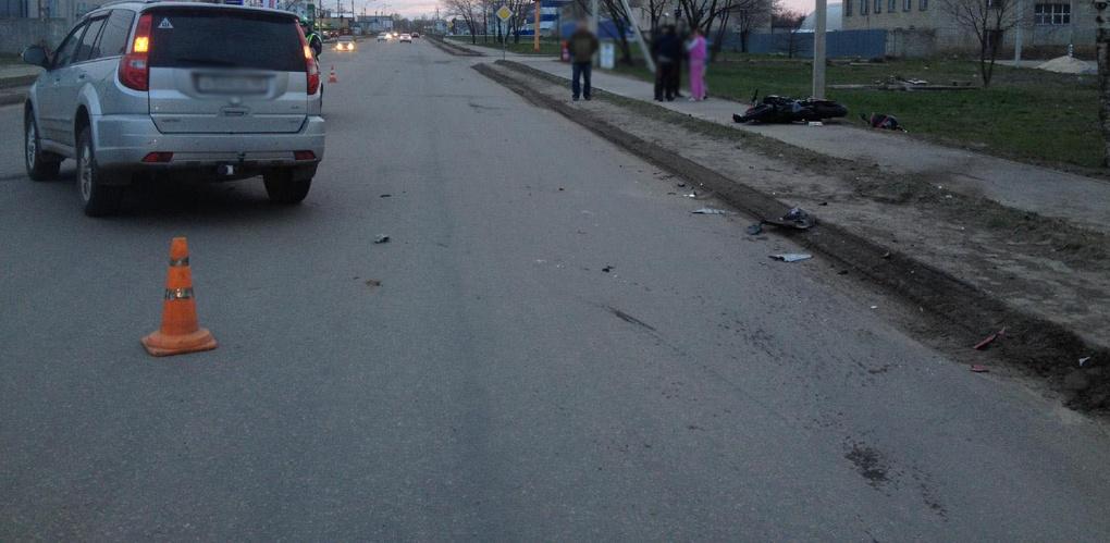 Водитель мотоцикла пострадал в ДТП