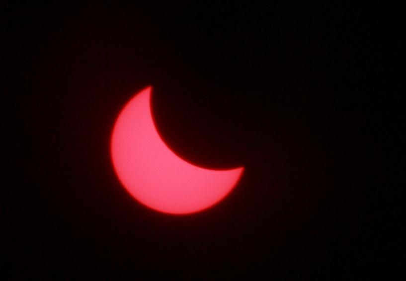 Тамбовчане смогли увидеть солнечное затмение