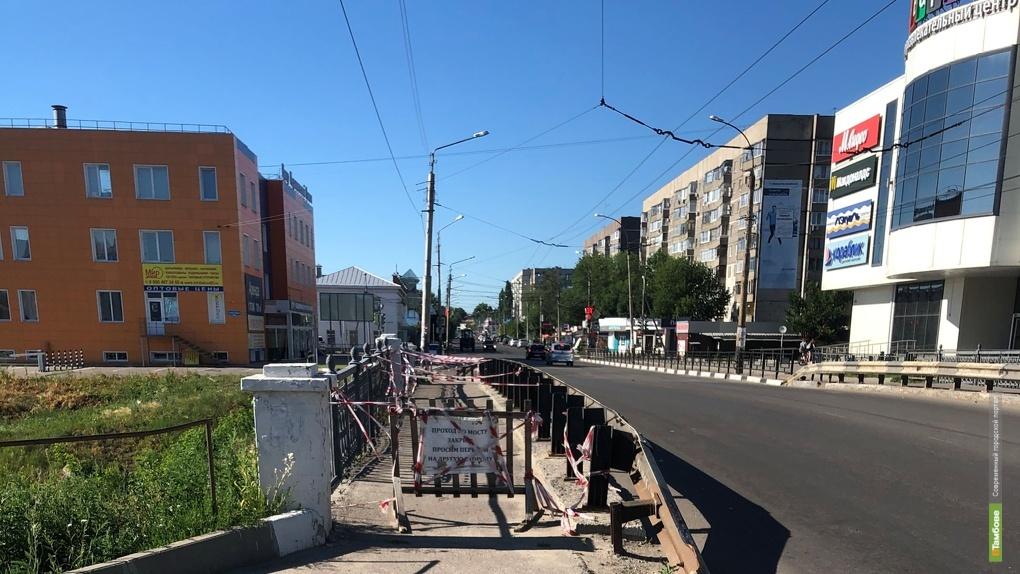 В Тамбове закрыли проезд через Студенец