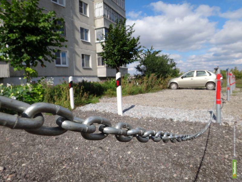 Тамбовчане самостоятельно захватывают территорию под парковку
