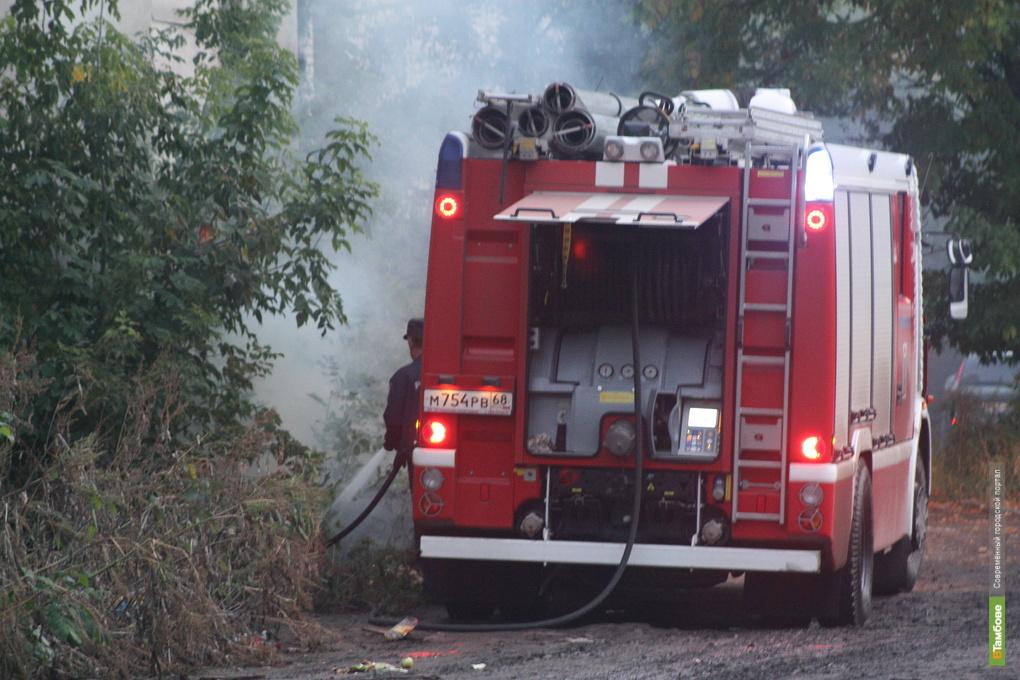 В пожаре на Тамбовщине пострадал пенсионер