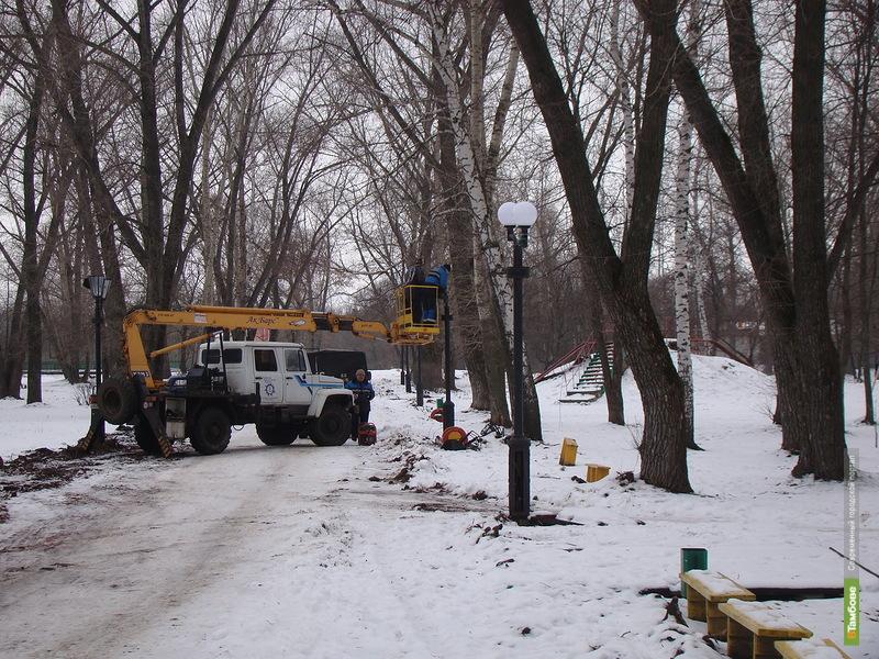 В Котовске городской парк получит новое освещение