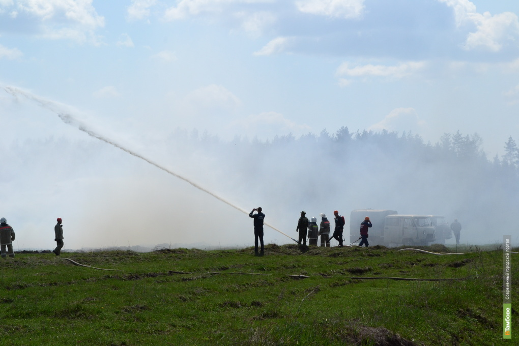 В пожаре на Тамбовщине никто не пострадал
