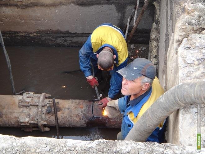На улице Куйбышева полным ходом идут ремонтные работы