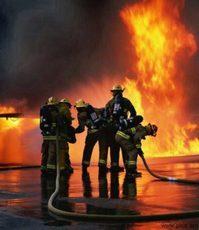 Тамбовские пожарные борются с огнем в Большой Липовице