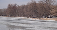 В Тамбове река Цна готовится освободиться ото льда