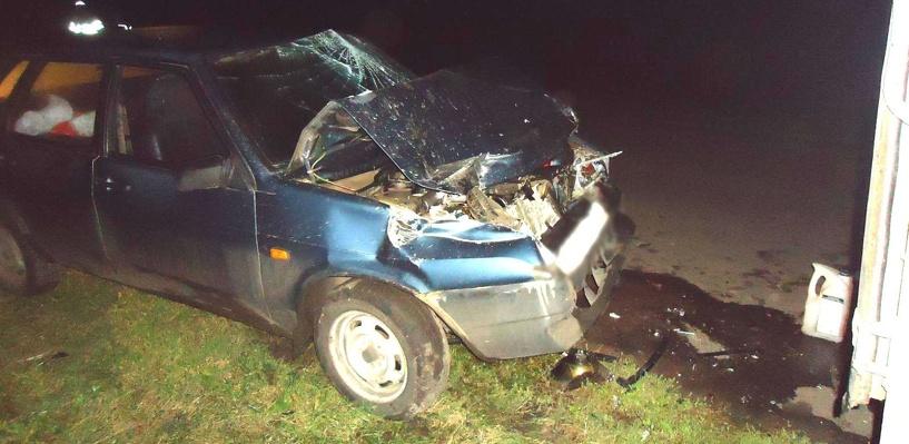 «Девяносто девятая» столкнулась с «Газелью», которая стояла на дороге с включённой аварийкой