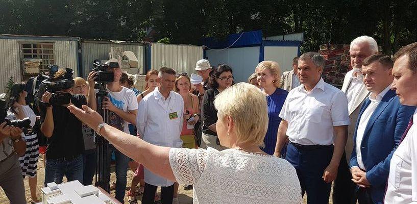 Председатель Госдумы похвалил темпы строительства перинатального центра в Тамбове